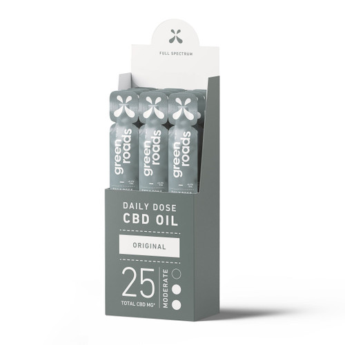 Green Roads Daily Dose CBD Oil 12-pack in full spectrum Original Flavor