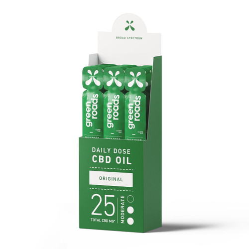 Green Roads CBD Oil Daily Dose 12-pack in broad spectrum original