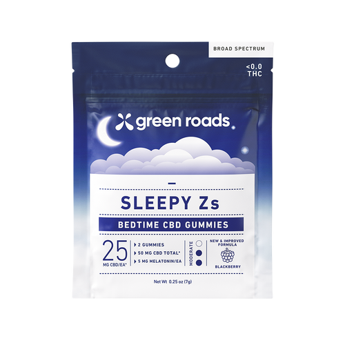 Green Roads Sleepy Z CBD gummies (2 pack). CBD gummies to help with Sleep