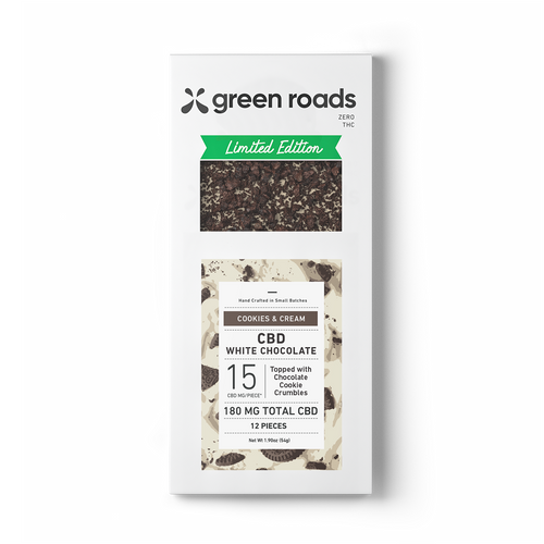 Cookies & Cream CBD Bar - 180mg