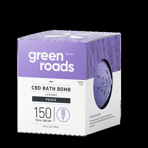 Green Roads large CBD Bath Bomb - PEACE (lavender)