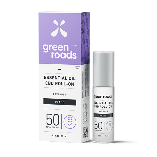 Green Roads CBD Lavender essential oil roll-on