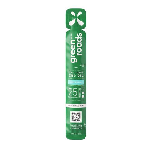Green Roads Daily Dose CBD Oil in broad spectrum Mint Breeze flavor