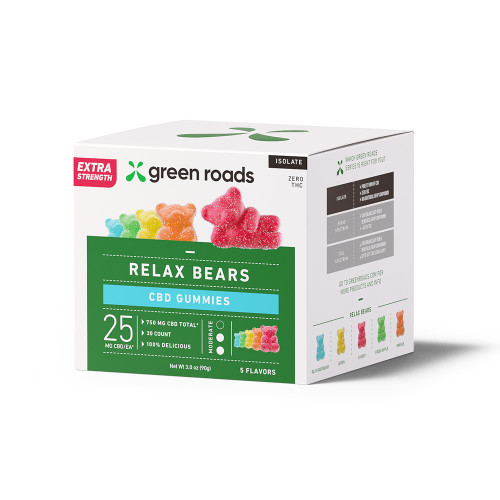 Green Roads Extra Strength Relax Bears - 30 count box