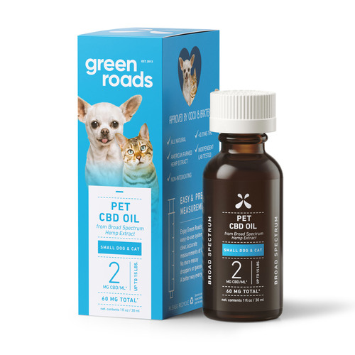 Green Roads Pets CBD Oil - Small Dog and Cat