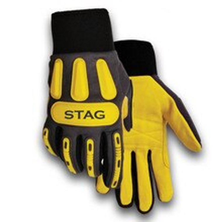 Stag Impact Leather Synthetic Glove