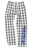 FLANNEL LOUNGE PANTS, GRAY/WHITE BUFFALO CHECK