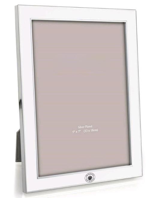 PDS WHITE ENAMEL FRAME, 5 X 7
