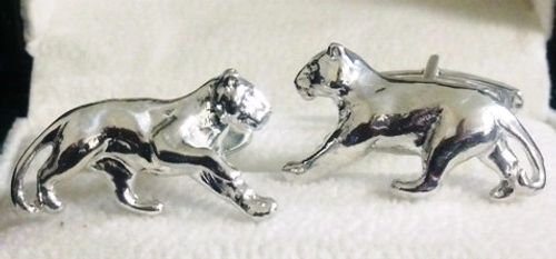 STERLING SILVER PANTHER CUFFLINKS