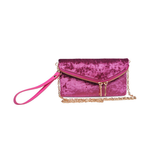 Lucy Mauve Wrist Cluth Bag