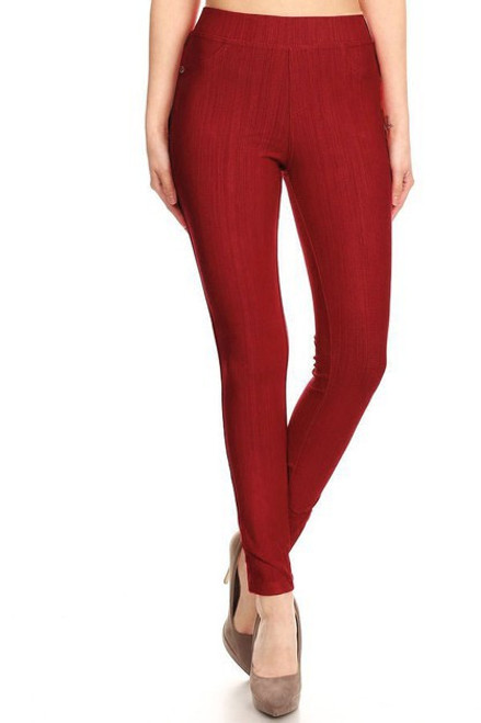 BURGUNDY SOFT LEGGING PANT