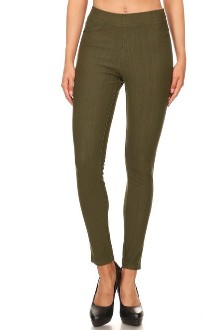 OLIVE SOFT LEGGING PANTS