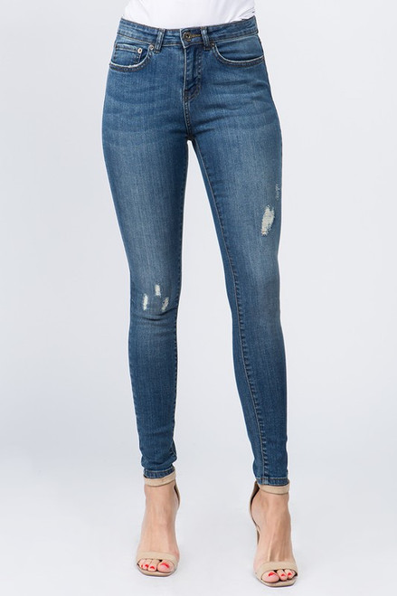 DISTRESSED SKINNY DENIM