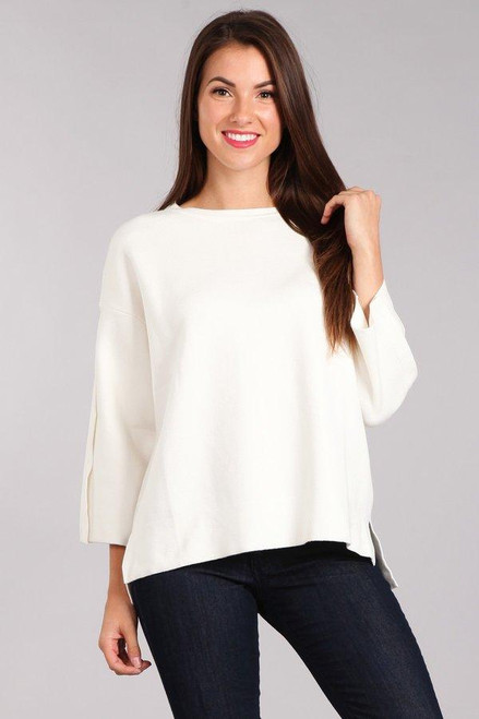 LONG SLEEVE IVORY SWEATER