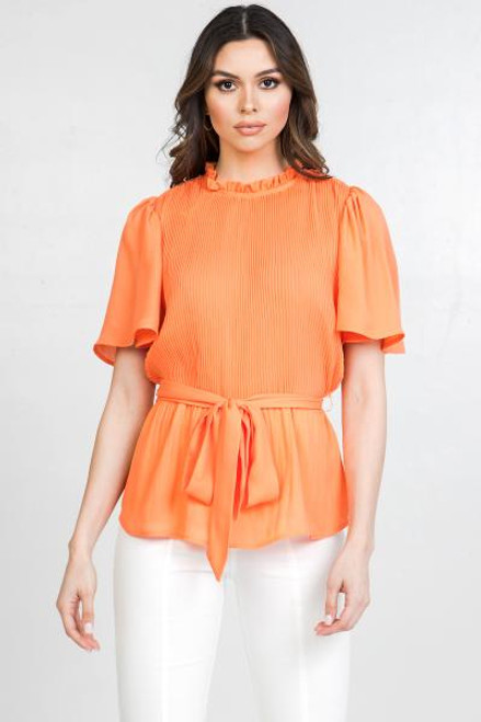 Orange Coral Solid Blouse