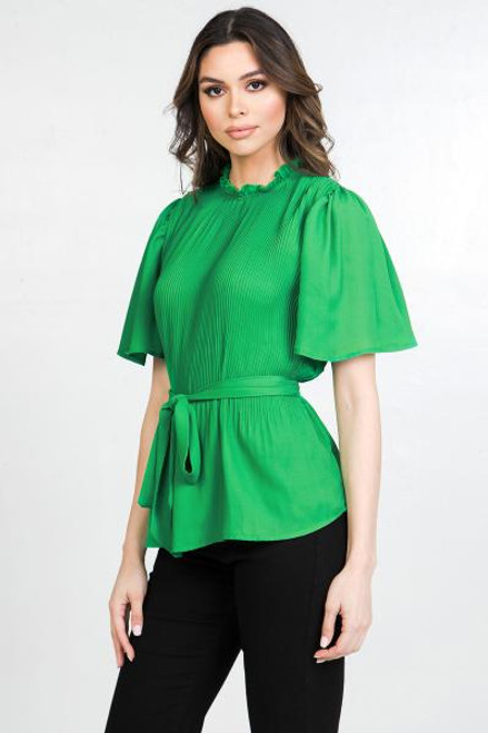 Green Solid Blouse