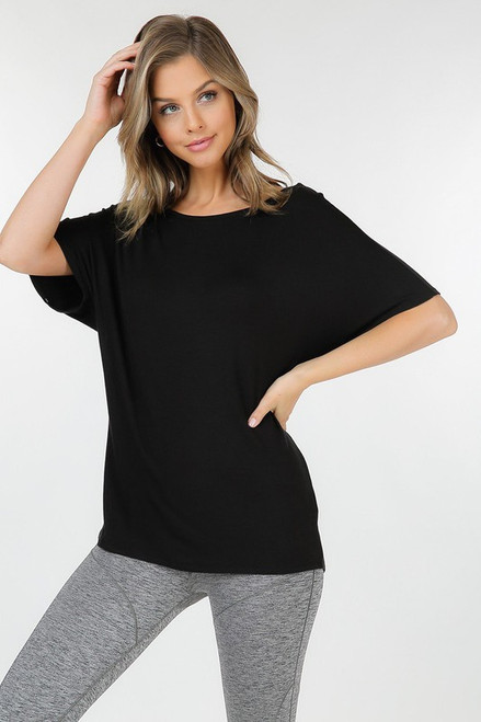 BLACK KNOT TUNIC TOP