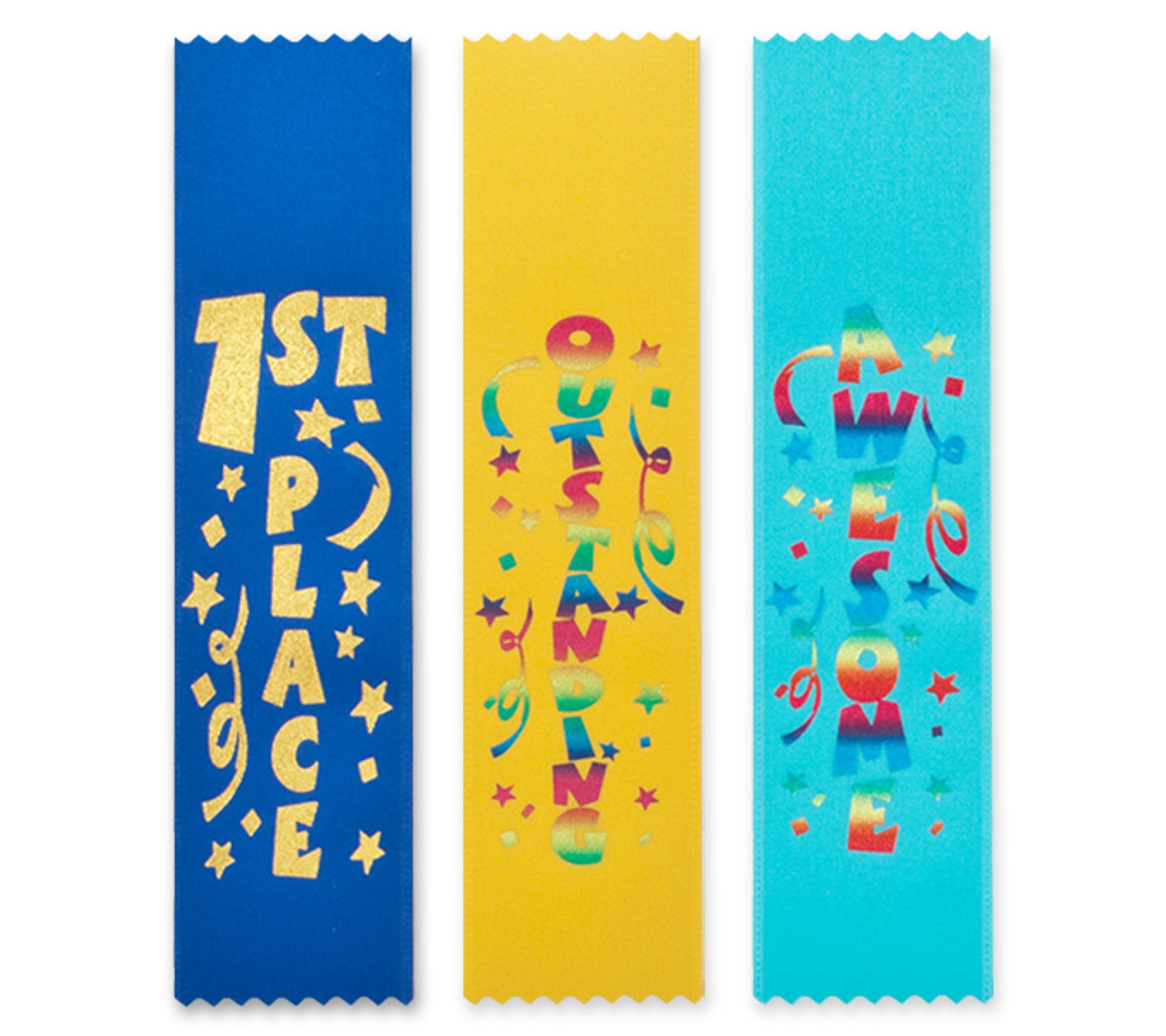 Fun Award Ribbons Bookmark Style