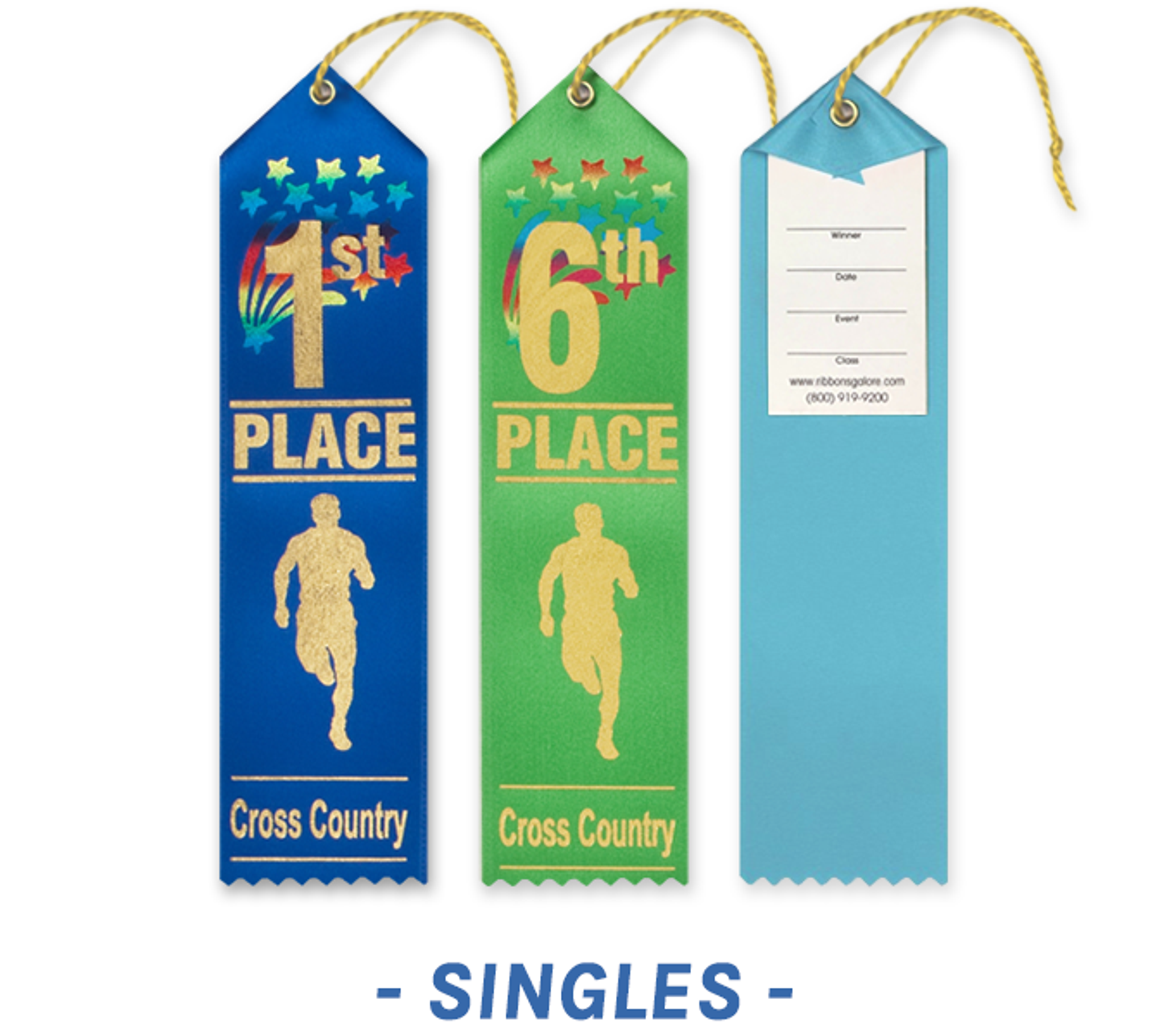Cross Country Ribbons with Card and String