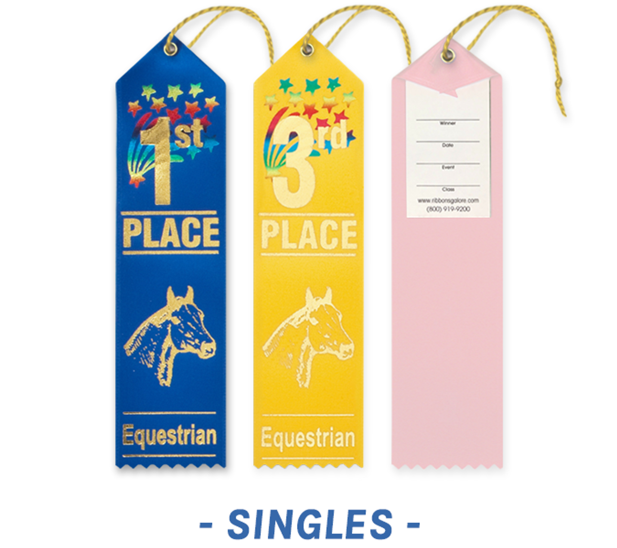 Equestrian Ribbons with Card and String