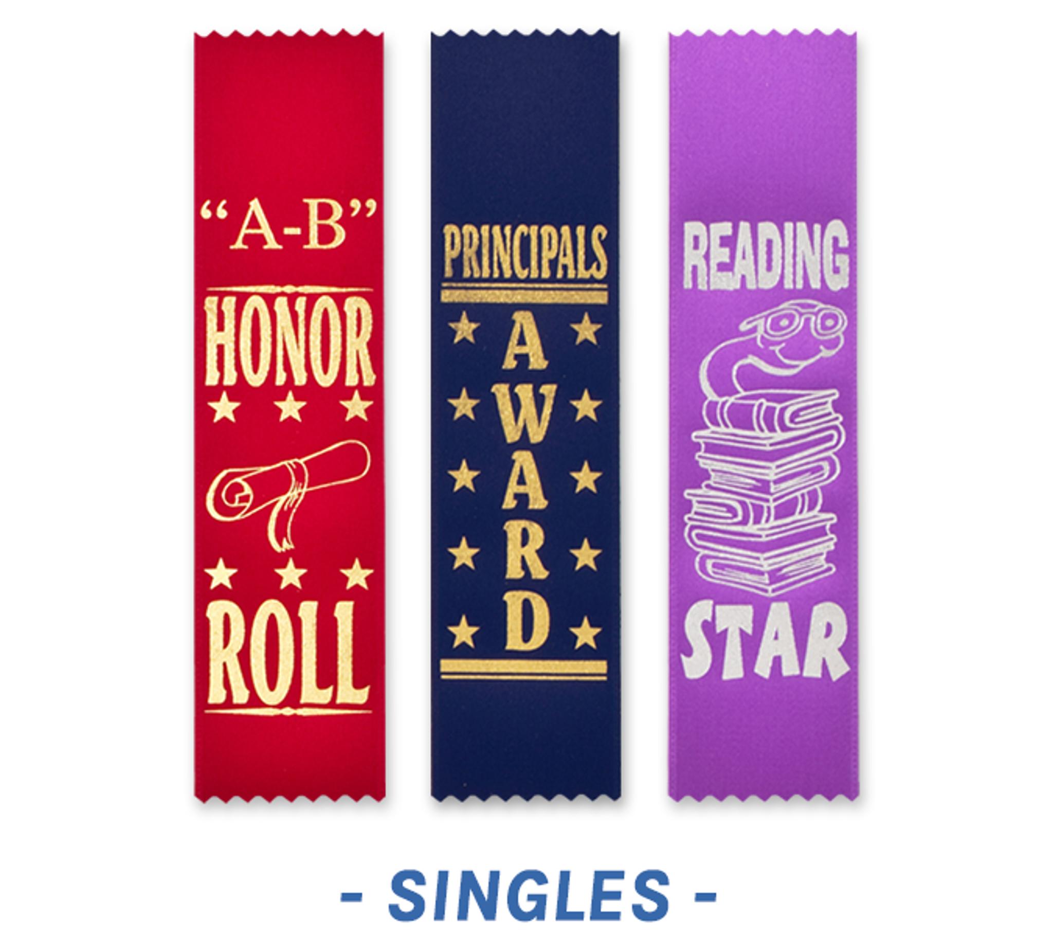 Scholastic Award Ribbons Bookmark Style