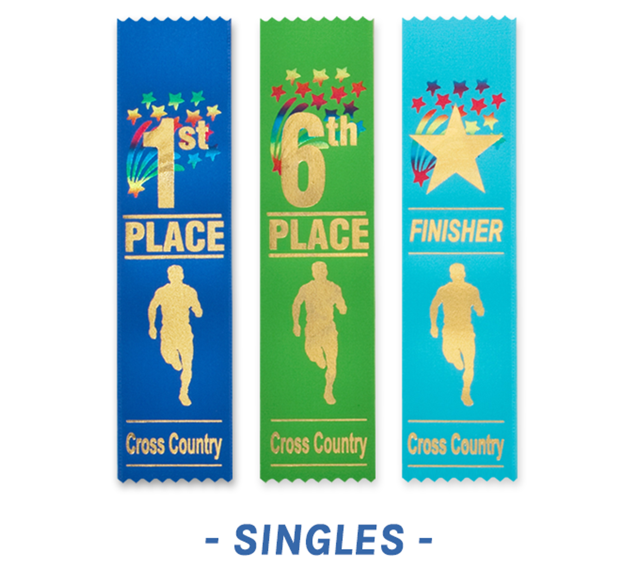 Cross Country Ribbons Flat Style