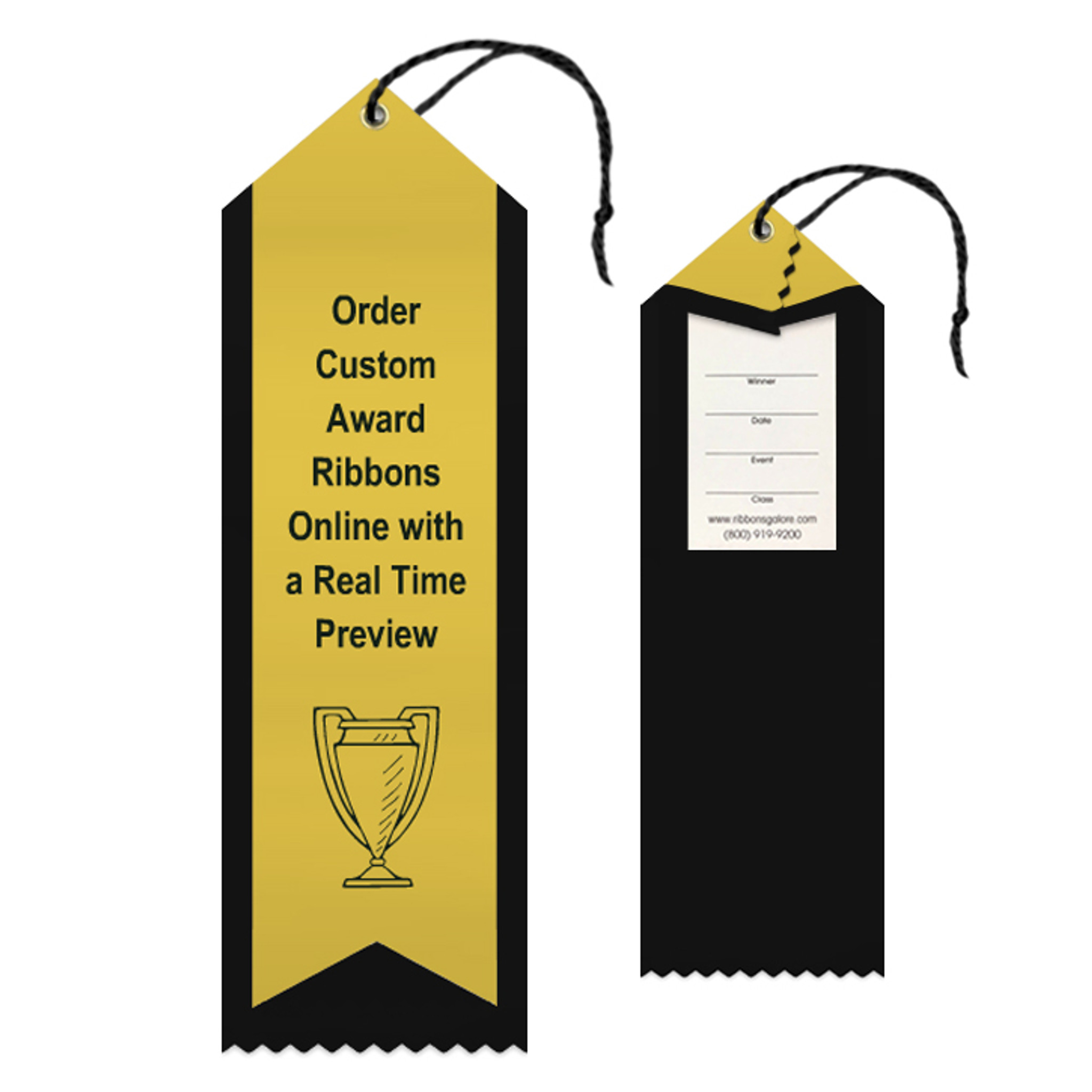 Custom Ribbon Peaked 2.5x8 Overlay
