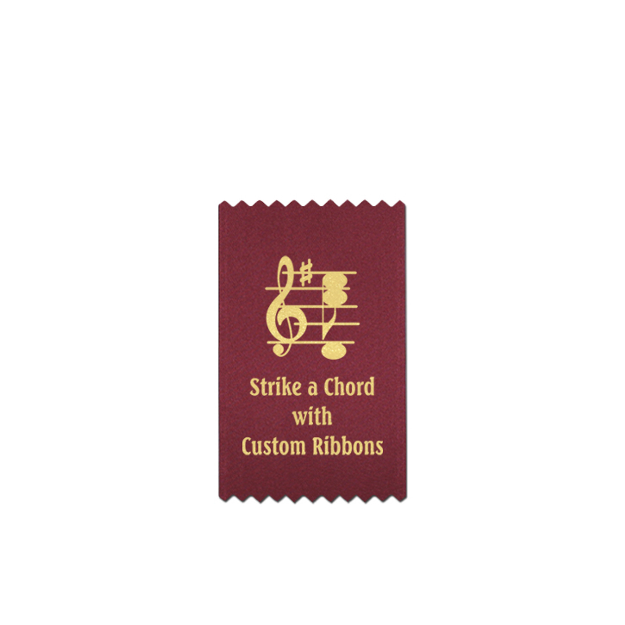 Custom small bookmark or badge ribbon