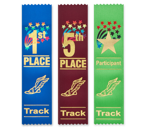 Track and Field Ribbons Flat Style