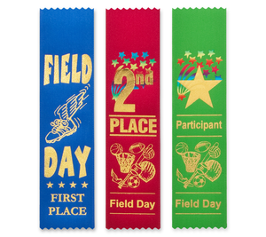 Field Day Award Ribbons Bookmark Style