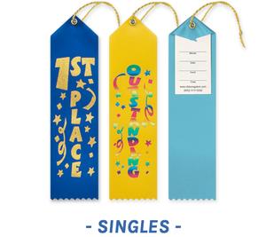 Fun Award Ribbons with Card and String