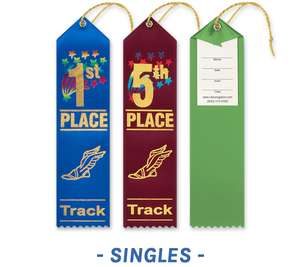 Track and Field Ribbons with Card and String