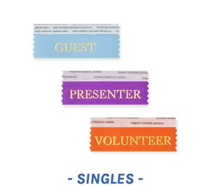 Horizontal Stackable Badge Ribbons