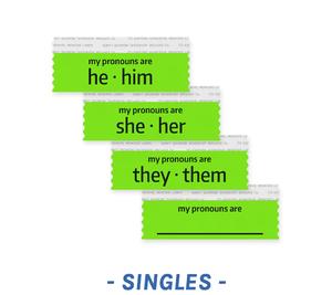 Pronoun Badge Ribbons