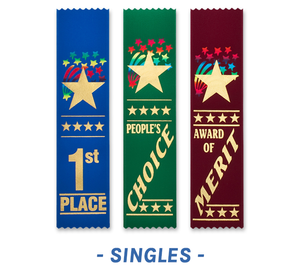 Starburst Award Ribbons Bookmark Style