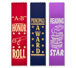 Scholastic Award Ribbons Bookmark Style