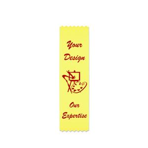 Custom 6 inch Flat Ribbon - bookmark badge ribbon