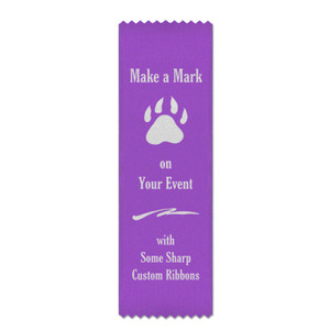 Custom 2.5x8 Bookmark Style Ribbon