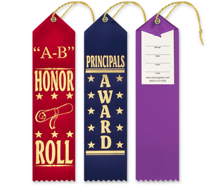 Scholastic Award Ribbons with Card and String