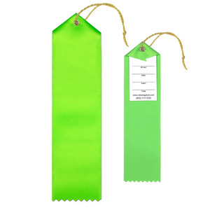 Blank Award Ribbon 2x8 Peaked with Event Card and String
