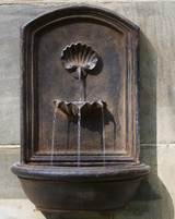 english shell wall fountain, light weight, looks great