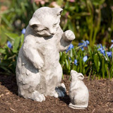 Playful Kitten Garden Statue