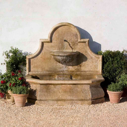 andalusia fountain for garden or against wall. large, stately, and grand,