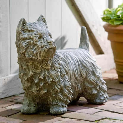 Westie Garden Statue