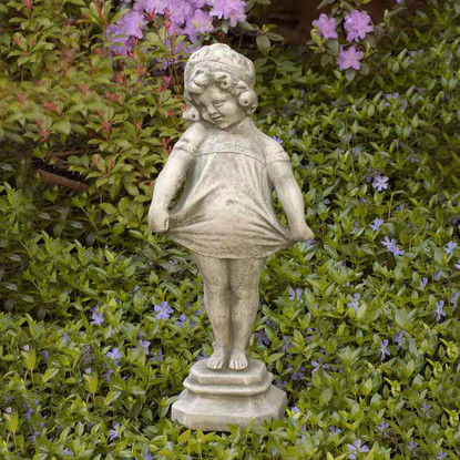 Shy Girl Garden Statue