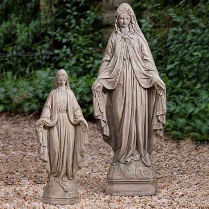Madonna Garden Statue, Medium