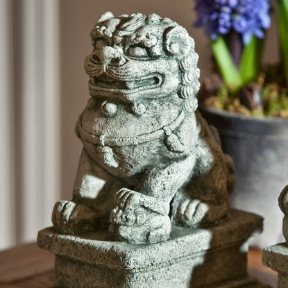 Small Temple Foo Dog Left