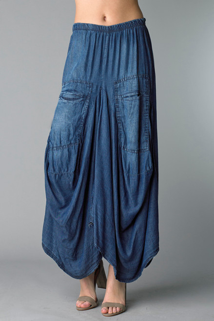 Tempo Paris Dark Denim Tencel Best Selling Bubble Skirt
