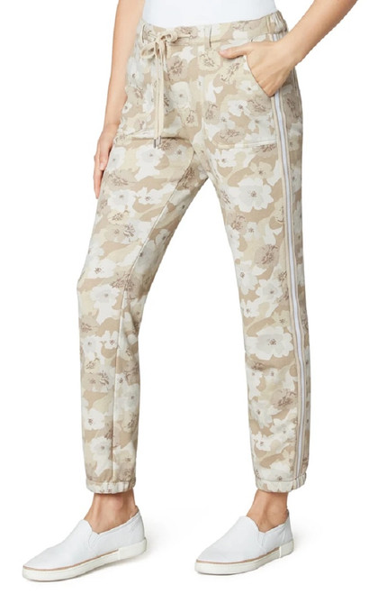 Liverpool Jeans Sand Camo Floral Relaxed Jogger Pants