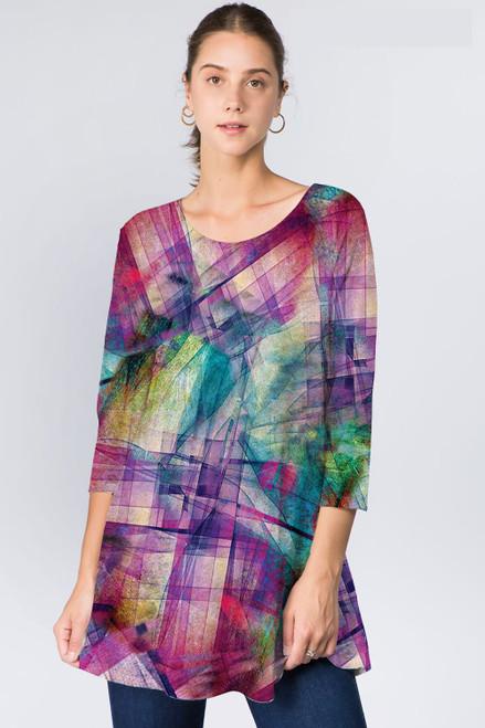 Et' Lois Multicolored Geometric Soft Knit Top